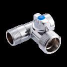 Кран-тройник для подключения сантехнических приборов MVI внутренняя-наружная-наружная