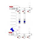Узел этажный для теплоснабжения, тип MF2 (Optimum)
