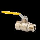Кран шаровый газовый полнопроходной MVI внутренняя-наружная, ручка рычаг